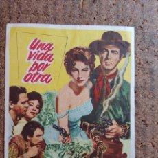 Cine: FOLLETO DE MANO DE LA PELÍCULA UNA VIDA POR OTRA. Lote 262026130