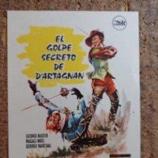 Folhetos de mão de filmes antigos de cinema: FOLLETO DE MANO DE LA PELÍCULA EL GOLPE SECRETO DE D'ARTAGNAN. Lote 262026440