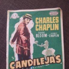Cine: FOLLETO DE MANO CANDILEJAS , CHARLES CHAPLIN. Lote 262093320