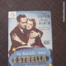 Cine: FOLLETO DE MANO HA NACIDO UNA ESTRELLA , JANET GAYNOR , FREDRIC MARCH. Lote 262094355