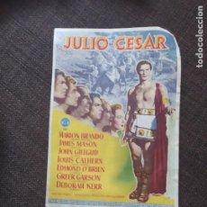 Cine: FOLLETO DE MANO JULIO CESAR , MARLON BRANDO. Lote 262106945
