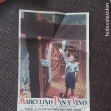 Cine: FOLLETO DE MANO MARCELINO PAN Y VINO. Lote 262107330