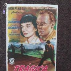 Cine: FOLLETO DE MANO TRAGICA OBSESION. Lote 262107620
