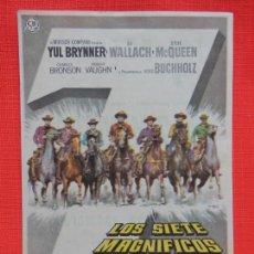 Cine: LOS SIETE MAGNIFICOS, IMPECABLE SENCILLO, YUL BRYNNER, C/PUBLI SALON CINE ESPAÑA-MASNOU. Lote 262107800