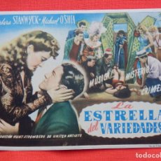 Cine: LA ESTRELLA DEL VARIEDADES, IMPECABLE SENCILLO, BARBARA STANWYCK, C/SELLO CINE CHILE CINEMA. Lote 262112730