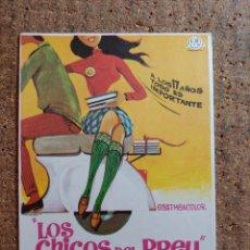 Cine: FOLLETO DE MANO DE LA PELICULA LOS CHICOS DEL PREU. Lote 262213455
