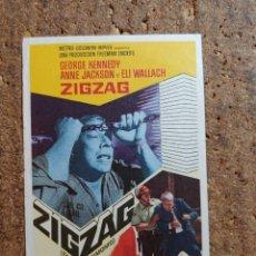 Cine: FOLLETO DE MANO DE LA PELICULA ZIGZAG. Lote 262213735