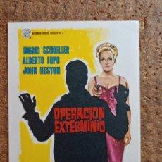 Cine: FOLLETO DE MANO DE LA PELICULA OPERACION EXTERMINIO. Lote 262213935