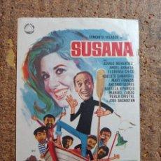 Cine: FOLLETO DE MANO DE LA PELÍCULA SUSANA. Lote 262215075