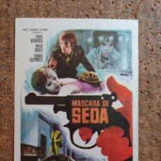 Cine: FOLLETO DE MANO DE LA PELÍCULA MÁSCARA DE SEDA. Lote 262215435