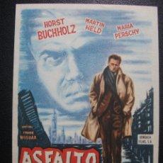 Cine: ASFALTO HÚMEDO, HORST BUCHHOLZ. Lote 262250430
