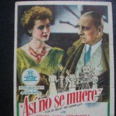 Cine: ASÍ NO SE MUERE, ERICH VON STROHEIM. Lote 262250685