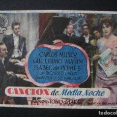 Cine: CANCIÓN DE MEDIANOCHE, CARLOS MUÑOZ. Lote 262252965