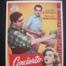 Cine: CONCIERTO MÁGICO, JOSÉ Mª RODERO. Lote 262253140
