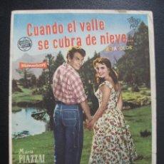 Cine: CUANDO EL VALLE SE CUBRA DE NIEVE, MARIA PIAZZAI. Lote 262253265