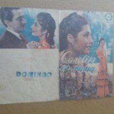 Cine: CANELITA EN RAMA DOBLE ABIERTO VERDE SELLO DOMINGO. Lote 262269735