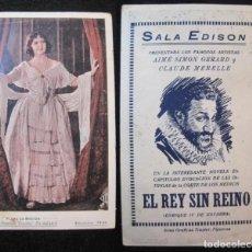 Cine: FLORE LE BRETON-LA PIMPINELA ESCARLATA-EL REY SIN REINO-SALA EDISON-PROGRAMA CINE-VER FOTOS-(80.415). Lote 262289000