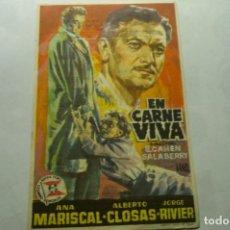 Cine: PROGRAMA EN CARNE VIVA-ANA MARISCAL PUBLICIDAD. Lote 262324850