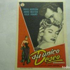 Cine: PROGRAMA SU UNICO DESEO .-ROCK HUDSON PUBLICIDAD. Lote 262324920