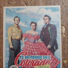 Cine: FOLLETO DE MANO DE LA PELÍCULA EL HOMBRE DEL COLORADO CON PUBLICIDAD. Lote 262397340