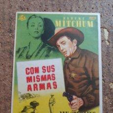 Cine: FOLLETO DE MANO DE LA PELÍCULA CON SUS MISMAS ARMAS CON PIBLICIDAD. Lote 262444045