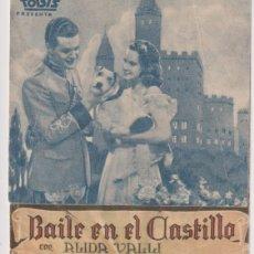 Cine: BAILE EN EL CASTILLO. DOBLE DE HISPANIA TOBIS. CINEMA DIANA 1943. Lote 262682540