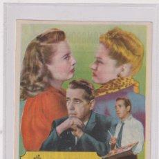 Cine: LAS DOS SEÑORAS CARROLL. SENCILLO DE WB. TEATRO CAMARÓN-SEGORBE 1952. Lote 262682605