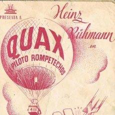 Cine: QUAX, EL PILOTO ROMPETECHOS, DESPLEGABLE, VER IMAGENES. Lote 262757650