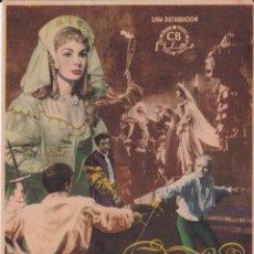 Cine: PROGRAMA DE CINE - HAMMLET - LAURENCE OLIVIER, JEAN SIMMONS - CINE PATRONATO. Lote 262854760