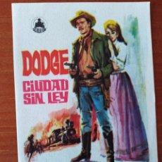 Cine: DODGE CIUDAD SIN LEY. Lote 262908725