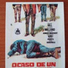 Cine: OCASO DE UN PISTOLERO. Lote 262908845