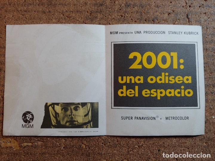 FOLLETO DE MANO DOBLE DE LA PELICULA 2001 UNA ODISEA DEL ESPACIO (Cine - Folletos de Mano - Ciencia Ficción)