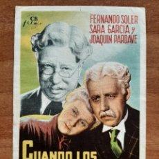 Cine: PROGRAMA DE MANO : CUANDO LOS HIJOS SE VAN. Lote 263031455