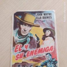 Cine: FOLLETO DE MANO EL Y SU ENIGMA , JOHN WAYNE , ELLA RAINES. Lote 263031680