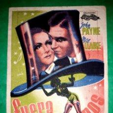Cine: FOLLETO FUERA SOMBREROS PUBLICIDAD CINE DORSO 1936. Lote 263047850