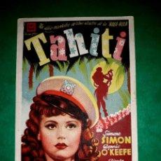 Cine: FOLLETO CINE TAHITI 1943. Lote 263056350