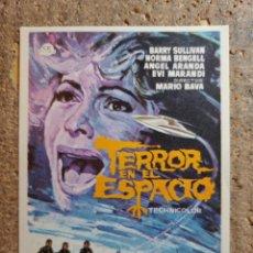 Folhetos de mão de filmes antigos de cinema: FOLLETO DE MANO DE LA PELÍCULA TERROR EN EL ESPACIO. Lote 263061960