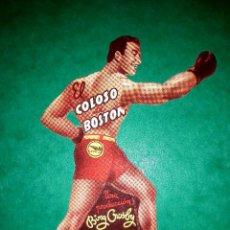 Cine: FOLLETO TROQUELADO EL COLOSO DE BOSTON PUBLICIDAD AL DORSO 1945. Lote 263062180