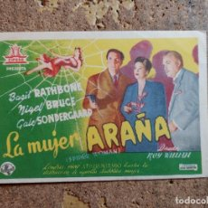 Folhetos de mão de filmes antigos de cinema: FOLLETO DE MANO DE LA PELICULA LA MUJER ARAÑA. Lote 263063545