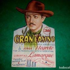 Cine: FOLLETO TROQUELADO GRAN CASINO CON JORGE NEGRETE 1947. Lote 263071635