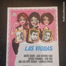 Cine: LAS VIUDAS. CINES BOHEMIO Y GALILEO. BARCELONA.. AÑOS 67 - VELL I BELL. Lote 263074235