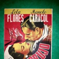Cine: FOLLETO EMBRUJO CON LOLA FLORES Y MANOLO CARACOL PUBLICIDAD AL DORSO 1947. Lote 263075355