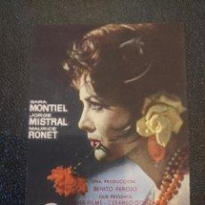 Cine: CARMEN LA DE RONDA.. CINE EL JARDIN.. FIGUERAS. AÑOS 60- VELL I BELL. Lote 263076165