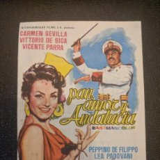 Cine: PAN, AMOR Y ANDALUCIA.. SALA EDISON... FIGUERAS. AÑOS 60- VELL I BELL. Lote 263076450