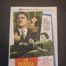 Cine: LA HERIDA LUMINOSA.. SALA EDISON... FIGUERAS. AÑOS 60- VELL I BELL. Lote 263077045
