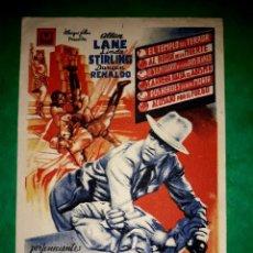 Cine: FOLLETO LA MUJER TIGRE PUBLICIDAD AL DORSO 1944. Lote 263077845