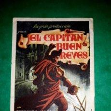 Cine: FOLLETO EL CAPITAN BUEN REVES PUBLICIDAD AL DORSO 1936. Lote 263078350