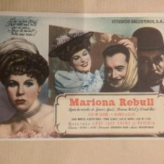 Cine: MARIONA REBULL. CINE CONTINENTAL. MOLLET. AÑO 1947. VELL I BELL. Lote 263087925