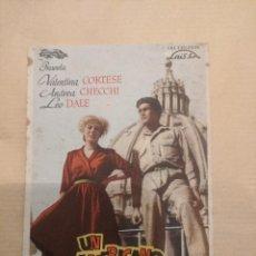 Cine: UN AMERICANO EN VACACIONES. EMPORIO CINEMA. GERONA. AÑO 1948VELL I BELL. Lote 263091370