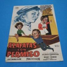 Cine: PROGRAMA DE MANO ORIG - AZAFATAS CON PERMISO - CON CINE BOHEMIO Y GALILEO IMPRESO AL DORSO. Lote 263122980